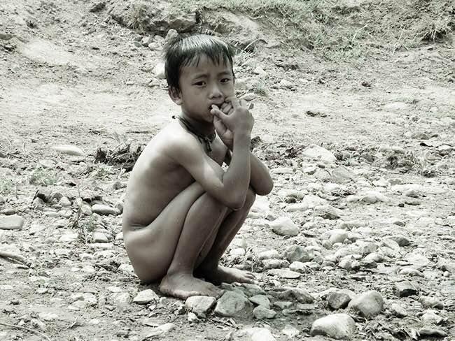 Enfant à Chiang Mai