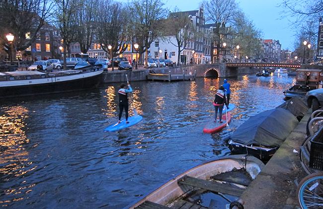 paddle de nuit Amsterdam